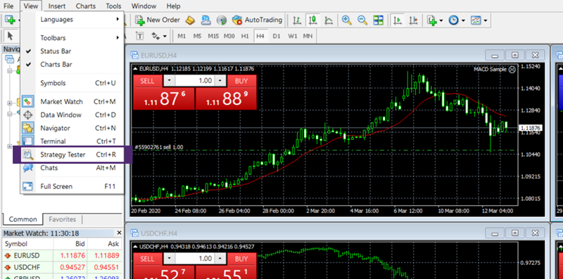 How to backtest on MetaTrader 4